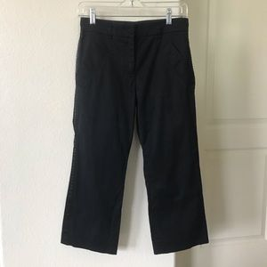 Derek Lam Black Silk Dress Capri Pants Size 4
